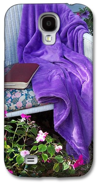 Purple Robe Galaxy S4 Cases - My Chair Galaxy S4 Case by Kathleen Luther
