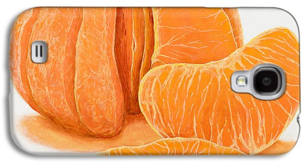 Tangerine Paintings Galaxy S4 Cases - My Clementine Galaxy S4 Case by Garry McMichael
