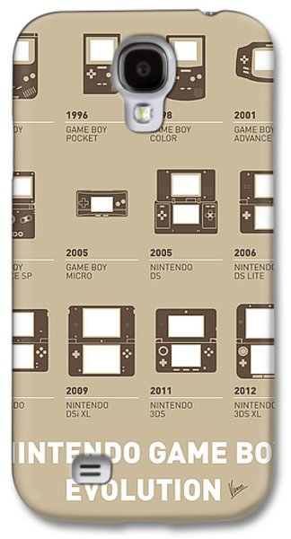 Industrial Digital Galaxy S4 Cases - My Evolution Nintendo game boy minimal poster Galaxy S4 Case by Chungkong Art