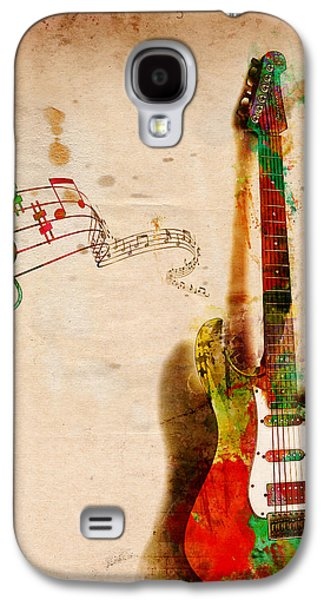 Abstract Digital Art Galaxy S4 Cases - My Guitar Can SING Galaxy S4 Case by Nikki Smith