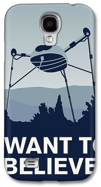 My I Want To Believe Minimal Poster-war-of-the-worlds Galaxy S4 Case by Chungkong Art