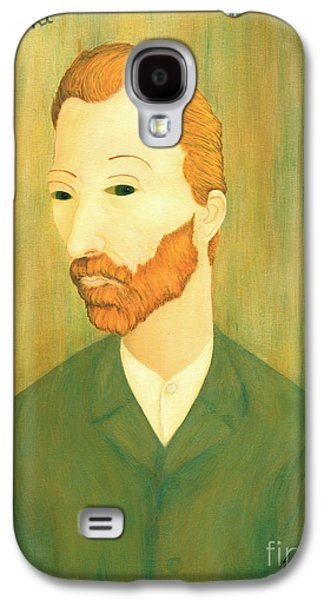 Mental Paintings Galaxy S4 Cases - My Modigliani Portrait of Vincent Van Gogh Galaxy S4 Case by Jerome Stumphauzer