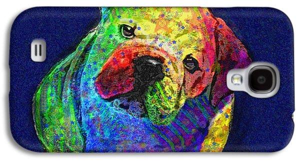 My Psychedelic Bulldog Galaxy S4 Case by Jane Schnetlage