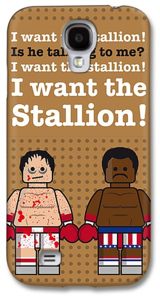 Heavyweight Digital Galaxy S4 Cases - My rocky lego dialogue poster Galaxy S4 Case by Chungkong Art