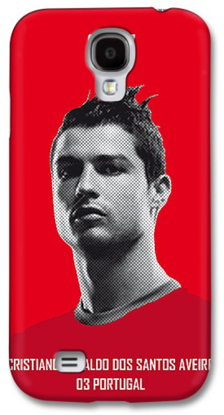 My Ronaldo Soccer Legend Poster Galaxy S4 Case by Chungkong Art