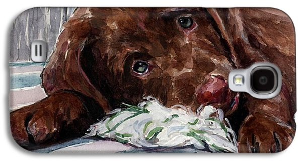 Chocolate Labrador Retriever Galaxy S4 Cases - My Rope Toy Galaxy S4 Case by Molly Poole
