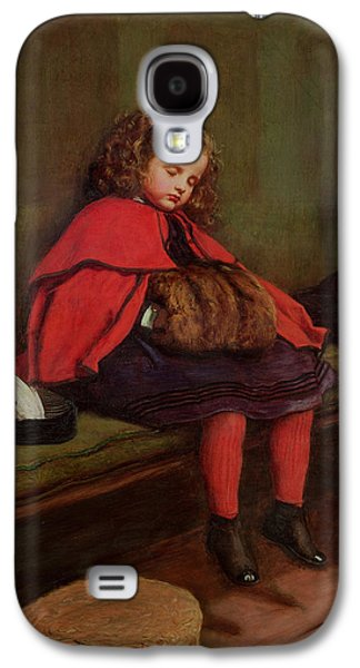 Victorian Photographs Galaxy S4 Cases - My Second Sermon, 1864 Oil On Canvas Galaxy S4 Case by Sir John Everett Millais