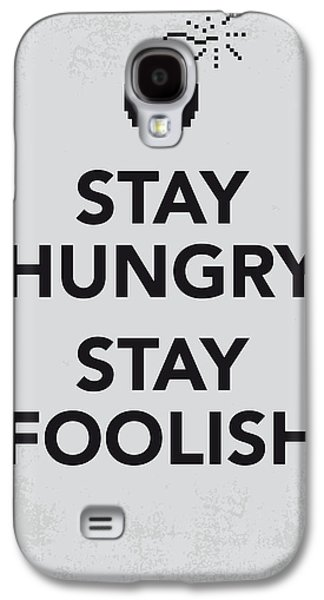 My Stay Hungry Stay Foolish Poster Galaxy S4 Case by Chungkong Art