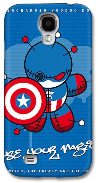 Captain Galaxy S4 Cases - My SUPERCHARGED VOODOO DOLLS CAPTAIN AMERICA Galaxy S4 Case by Chungkong Art