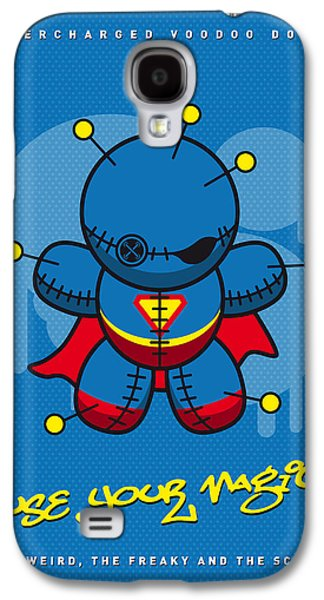 My Supercharged Voodoo Dolls Superman Galaxy S4 Case by Chungkong Art