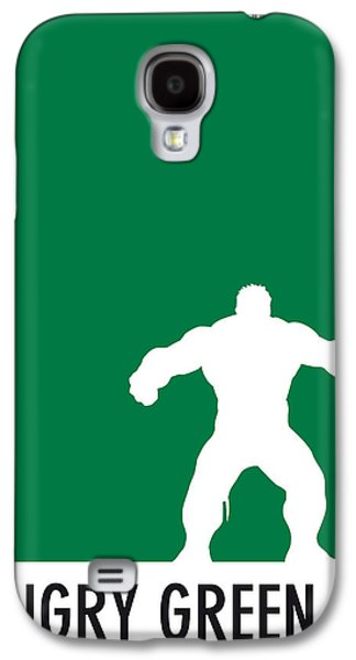 Super Powers Galaxy S4 Cases - My Superhero 01 Angry Green Minimal poster Galaxy S4 Case by Chungkong Art