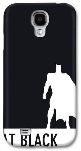 Game Galaxy S4 Cases - My Superhero 02 Bat Black Minimal poster Galaxy S4 Case by Chungkong Art
