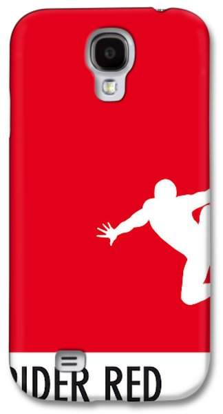 Super Powers Galaxy S4 Cases - My Superhero 04 Spider Red Minimal poster Galaxy S4 Case by Chungkong Art