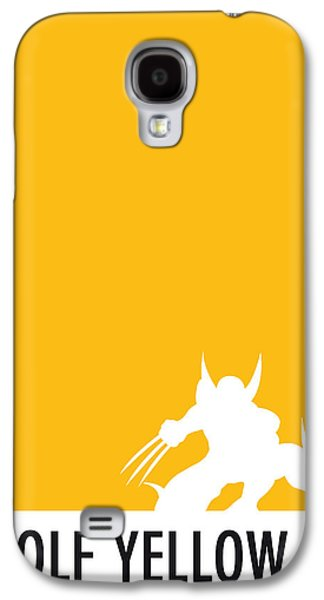 Super Powers Galaxy S4 Cases - My Superhero 05 Wolf Yellow Minimal poster Galaxy S4 Case by Chungkong Art