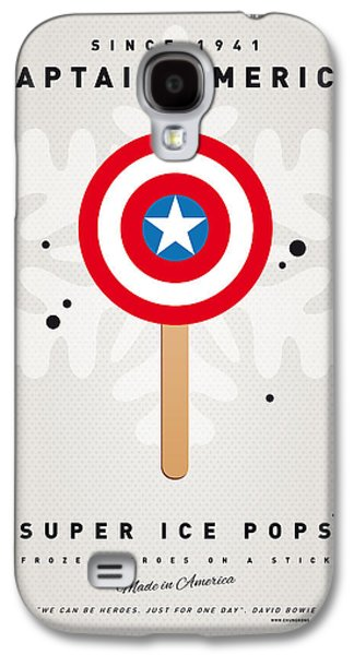 Super Powers Galaxy S4 Cases - My SUPERHERO ICE POP - Captain America Galaxy S4 Case by Chungkong Art