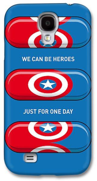 Super Powers Galaxy S4 Cases - My SUPERHERO PILLS - Captain America Galaxy S4 Case by Chungkong Art