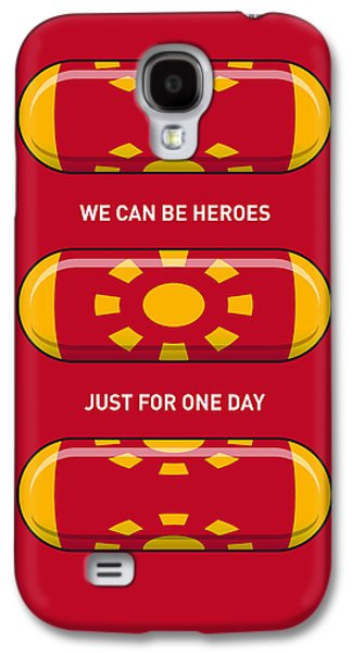 Super Powers Galaxy S4 Cases - My SUPERHERO PILLS - Iron Man Galaxy S4 Case by Chungkong Art
