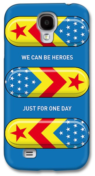 Super Powers Galaxy S4 Cases - My SUPERHERO PILLS - Wonder woman Galaxy S4 Case by Chungkong Art