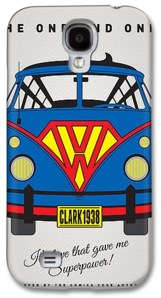 Freed Galaxy S4 Cases - MY SUPERHERO-VW-T1-superman Galaxy S4 Case by Chungkong Art