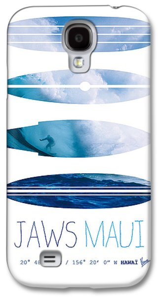 Layered Galaxy S4 Cases - My Surfspots poster-1-Jaws-Maui Galaxy S4 Case by Chungkong Art