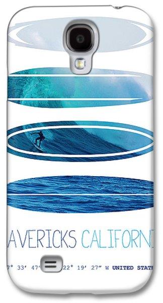 Bull Digital Galaxy S4 Cases - My Surfspots poster-2-Mavericks-California Galaxy S4 Case by Chungkong Art