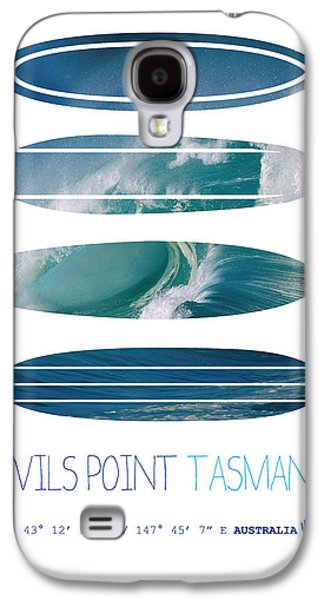 Dungeons Galaxy S4 Cases - My Surfspots poster-5-Devils-Point-Tasmania Galaxy S4 Case by Chungkong Art