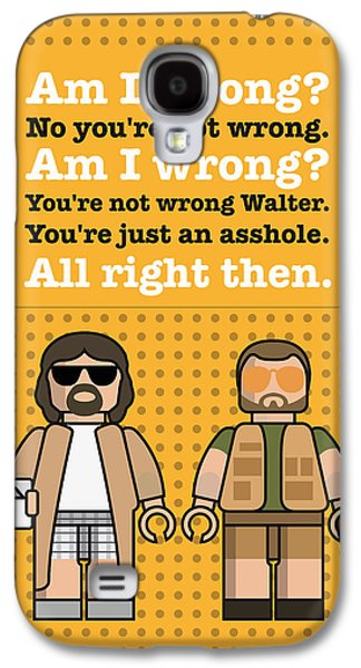 My The Big Lebowski Lego Dialogue Poster Galaxy S4 Case by Chungkong Art