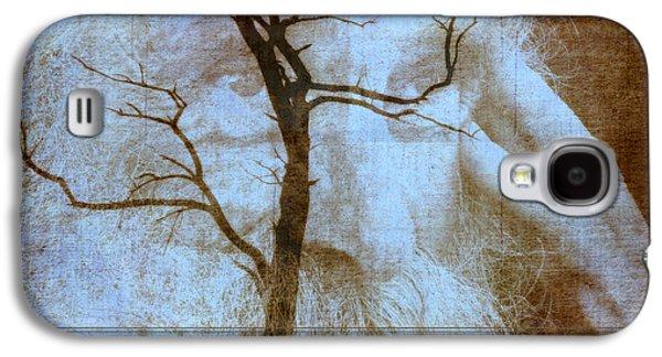 Contemplative Mixed Media Galaxy S4 Cases - My Thinking Tree Galaxy S4 Case by Irma BACKELANT GALLERIES