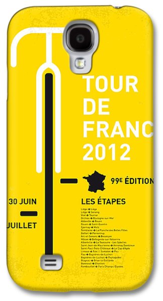 Tour Galaxy S4 Cases - My Tour De France Minimal Poster 2012 Oud Galaxy S4 Case by Chungkong Art
