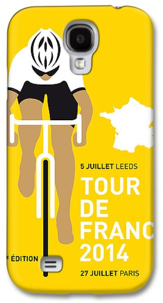 Wall Art Prints Digital Art Galaxy S4 Cases - My Tour De France Minimal Poster 2014 Galaxy S4 Case by Chungkong Art