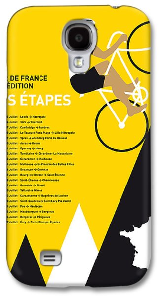 Champions Galaxy S4 Cases - My Tour De France Minimal Poster 2014-etapes Galaxy S4 Case by Chungkong Art