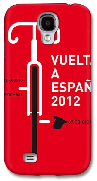 Freed Galaxy S4 Cases - My Vuelta A Espana Minimal Poster Galaxy S4 Case by Chungkong Art