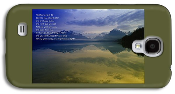 Bible Quotes Galaxy S4 Cases - My Yoke Is Easy Galaxy S4 Case by Jeff  Swan
