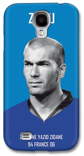 My Zidane Soccer Legend Poster Galaxy S4 Case by Chungkong Art