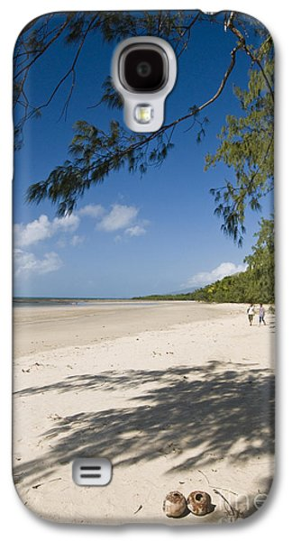 Beach Landscape Galaxy S4 Cases - Myall Beach Galaxy S4 Case by William H. Mullins