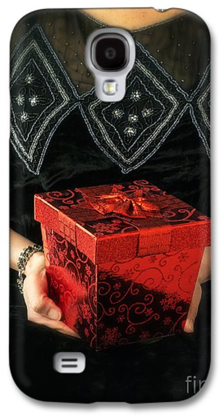 Box Galaxy S4 Cases - Mysterious Woman with Red Box Galaxy S4 Case by Edward Fielding