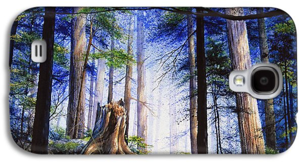 Green Galaxy S4 Cases - Mystic Forest Majesty Galaxy S4 Case by Hanne Lore Koehler