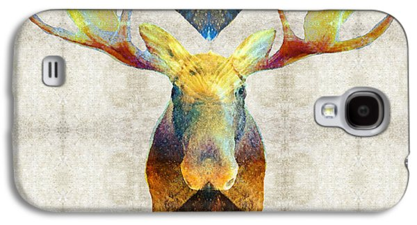 Mystic Paintings Galaxy S4 Cases - Mystic Moose Art by Sharon Cummings Galaxy S4 Case by Sharon Cummings