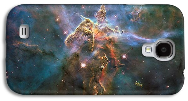 Jet Star Mixed Media Galaxy S4 Cases - Mystic Mountain Galaxy S4 Case by L Brown