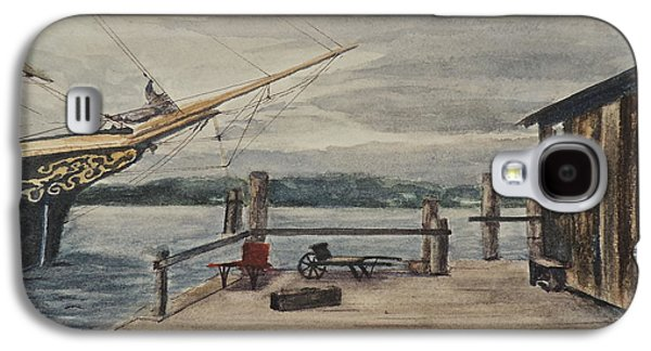 Mystic Paintings Galaxy S4 Cases - Mystic Seaport Joseph Conrad and Clam Shack Galaxy S4 Case by Patty Kay Hall