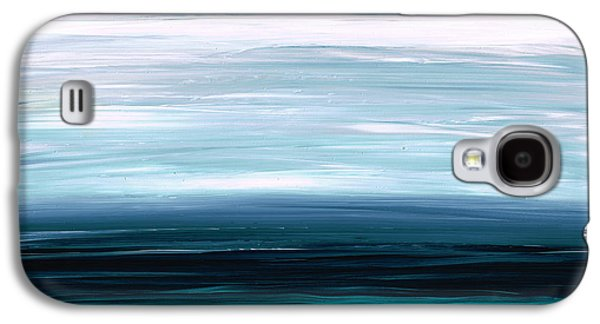 Earthy Paintings Galaxy S4 Cases - Mystic Shore Galaxy S4 Case by Sharon Cummings