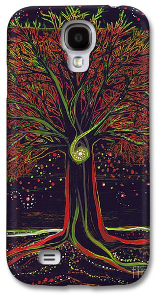 Mystic Spiral Tree Red By Jrr Galaxy S4 Case by First Star Art