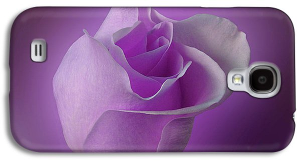 Indiana Flowers Galaxy S4 Cases - Mystical Purple Rose Galaxy S4 Case by Sandy Keeton