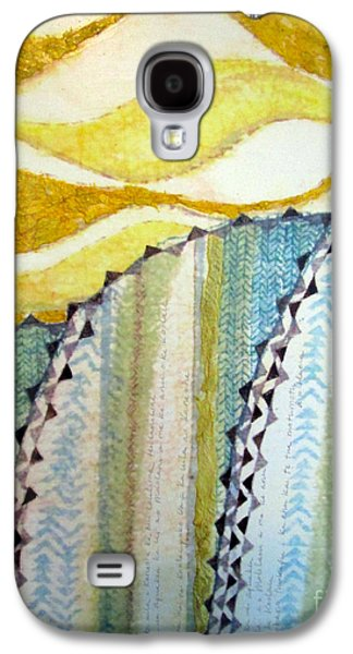Contemporary Abstract Tapestries - Textiles Galaxy S4 Cases - Na Koolau Galaxy S4 Case by Dalani Tanahy