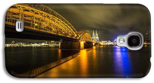 Bahn Galaxy S4 Cases - Nacht auf dem Rhein Galaxy S4 Case by Rob Hawkins
