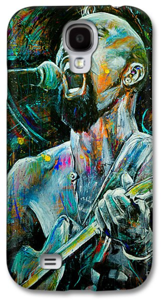 Tribe Paintings Galaxy S4 Cases - Nahko Bear Galaxy S4 Case by Robyn Chance