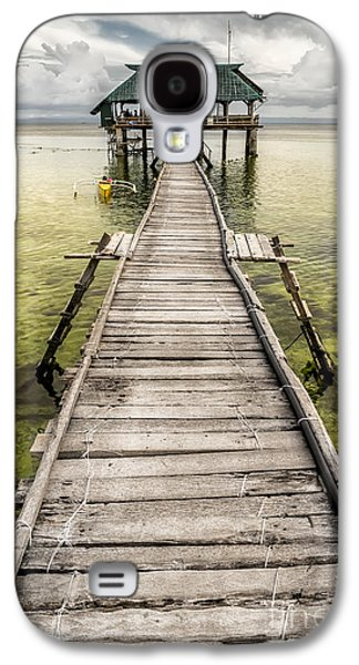 Pier Digital Galaxy S4 Cases - Nalusuan Island Pier Galaxy S4 Case by Adrian Evans