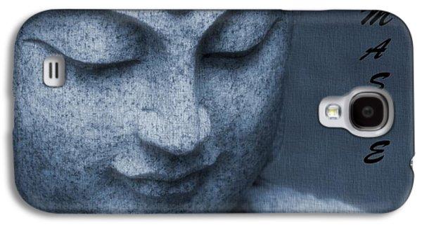 Statue Portrait Galaxy S4 Cases - Namaste Buddha Galaxy S4 Case by Dan Sproul