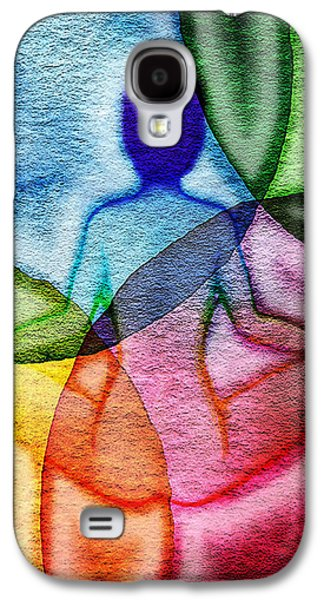 Chakra Rainbow Paintings Galaxy S4 Cases - Namaste Galaxy S4 Case by Michelle Rene Goodhew