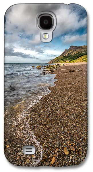Walkway Digital Art Galaxy S4 Cases - Nant Gwrtheyrn Shore Galaxy S4 Case by Adrian Evans